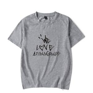 Дизайнерские футболки We Love Ariana Grande футболка Мужчины Женщины Лето с коротким рукавом с круглым вырезом Футболки класса люкс Уличная одежда футболки