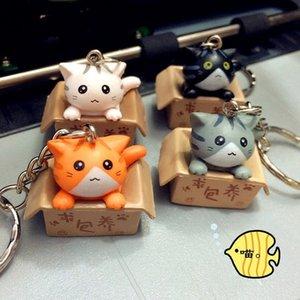 Kawaii القط المفاتيح الهاتف سحر الأشرطة حقيبة قلادة مفتاح سلسلة حلقة رئيسية لطيف الكرتون الحلي لسيارة منزل جديد