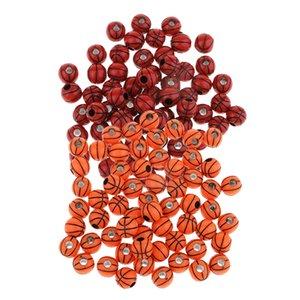 Commercio all'ingrosso 12mm 120Pcs branelli della resina Spacer allentati perline decorative di pallacanestro per i risultati Crafts fai da te