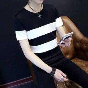 Summer Youth Short Sleeve T-Shirt Men's Thin Shirts Clothes Student Tops Korean Slim Trends Men's Wear