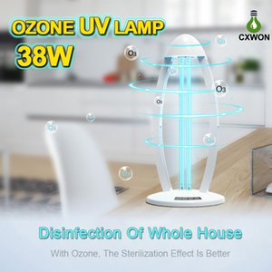 38W Portable UVC LED Sterilizer Ozone 253nm can really kill bacterial Ultraviolet Germicidal Lamp with remote