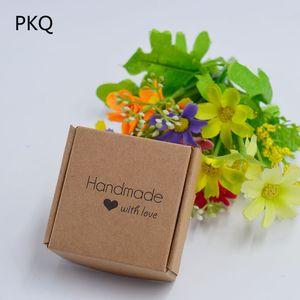 30pcs Best Wishes Piccolo contenitore di regalo Soprattutto per voi Candy Box Buon compleanno carta sapone gioielli Packaging 5.5x5.5x2.5cm
