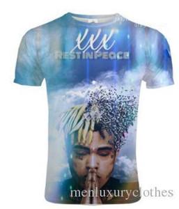 Tops manga XXXTentacion 3D imprimió las camisetas para hombre Adolescente verano de la ropa de rap estadounidense camiseta corta