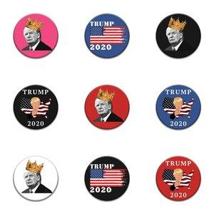 10 PC 1 Tronco Parches Bordados para el hierro Parche Ropa para el paño Costura de adornos accesorios etiquetas Trump insignia en la ropa de hierro en P # 17