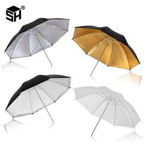 Photo Studio Umbrella Set 33 '84 centimetri Bianco Soft Light Umbrella + duplice uso Reflective Umbrella 4 Pieces Accessori Fotografia