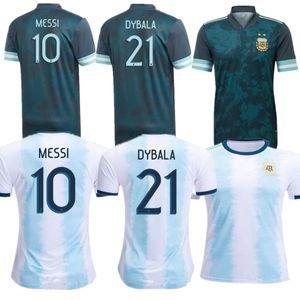 distancia 2020 Copa América Argentina 2020 Argentina camiseta de fútbol fútbol casero de la camisa # 10 MESSI # 9 # 11 AGUERO MARIA DI uniforme de fútbol