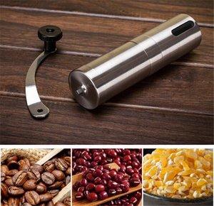 Nueva barra de plata Molinillo de café Mini mano de acero inoxidable Manual hecho a mano Grano de café Molinillos molinillos Molino Herramienta de cocina Molinillos de azafrán