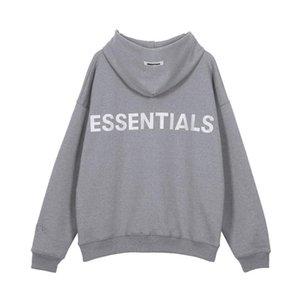 Mens Entwerferhoodies-FOG ESSENTIALS 19AW Stickerei Grau Rosa High Street Fashion-Marken-Frauen Hoodie los Sweatshirt S-XL