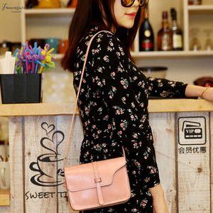 Handbag Plain Women Vintage Purse Bag Fashion Leather Cross Body Shoulder Messenger Bag Torebka Damska 40