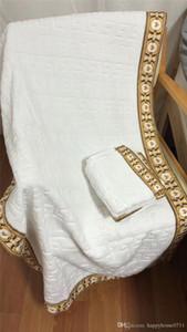 bagno di lusso asciugamano set marchio di design quadrato telo e telo da bagno 4 pezzo tessuto di cotone 1 set comodo molle 2019 nuovo arriva