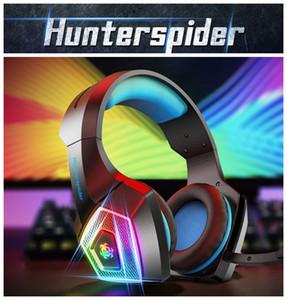 Светящиеся красочные V1 Gaming Headset Более ухо наушники проводные управления с микрофоном LED Light Casque Gamer Headset для PC PS4 Xbox One геймера