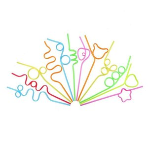 TOP!-Children'S Curly Party Straws, Crazy Party Straw Curling Novel Straws, For Party Bag Fillings, 36 Pieces Other Bar Products