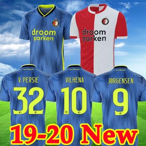2019 20 Feyenoord futbol formaları VAN PERSIE futbol formaları BERGHUIS VILHENA camisa de futebol Takım JORGENSEN CLASI TOORNSTRA maillot ayağı