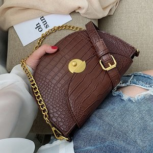 Stone Pattern PU Leather Crossbody Bags For Women 2019 Shoulder Messenger Bag Lady Travel Semicircle Handbags and Purses