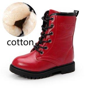Sonbahar Çocuk Martens Boots Büyük Kız İngiliz Tarzı Moda Çizmeler kış Kız Yüksek Silindir Su Geçirmez Çizmeler