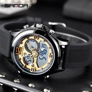 SANDA Masculino Relógio Top Homens Relógios desportivos ferramentas Sport Watch naviforce High-End Casual pulso multifuncionais