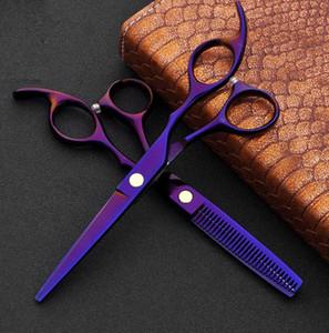 2ST Japan 440c Haar-Scheren für Friseure Barber Shop Supplies Titanium Professionelle Friseurschere für Haare schneiden