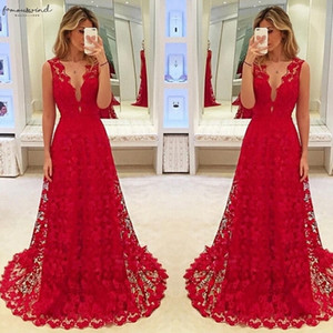 Hirigin Elegant Women Deep V Neck Floral Lace Hollow Out Long Maxi Dress Evening Formal Party Prom Ball Gown Vestido