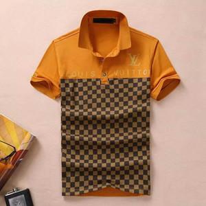 2019 İtalya tasarımcıları polo gömlek Moda Lüks Marka medusa ile t shirt mens Casual Pamuk polos nakış yılan apliqueletter Tops