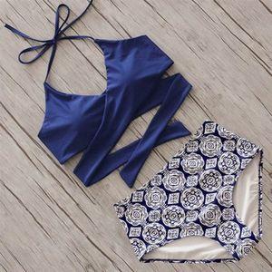 Yeni Marka Bikini Bandaj Bikini Set Şınav Mayo Kadın Mayo Seksi Çiçek Mayo Kadınlar Biquin