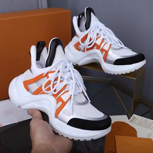 Louis Vuitton Shoes LV 2020 luxury nouvelles chaussures de luxe femme Casual hommes Chaussures de sport bleu en cuir véritable ridé Arena Sheepskin lacets luxe Baskets Top zheng
