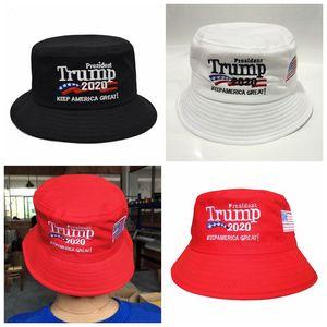 Trump 2020 Chapeau brodé seau Cap Keep America Grand Chapeau Trump Cap président Trump Avare Brim Chapeaux Chapeaux de fête CCA-11758 30pcs