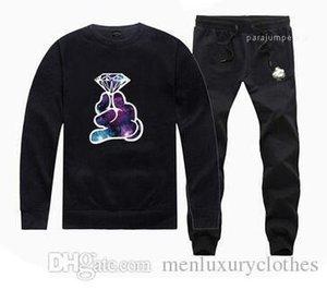 Tracksuits hiphop Hoodies Pants Clothing Sets Crooks and Castles Mens Diamond Designer Jogger 2pcs Suits