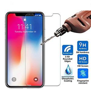 Protetor de tela de vidro temperado de alta qualidade 9h 2.5D para iphone 12 mini 11 pro x xs max xr 8 7 6 mais natal