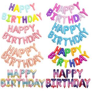 Mutlu renkler Sıcak öğe Doğum günü partisi Dekorasyon süsleme Yüzer balon Karikatür alüminyum folyo Ballon set FP010