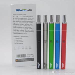 Hibron ATB Full Kit Thick Oil Vaporizer E Cigarette Starter Kits With 400mAh Preheat VV Battery 5 Colors Original Authentic DHL free