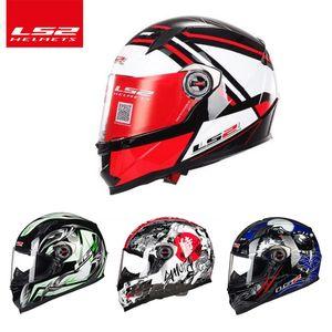 Os mais recentes LS2 ff358A completa Rosto Corrida Urban Motorcycle Helmet ECE casco moto capacete capacete, frete grátis Aprovado