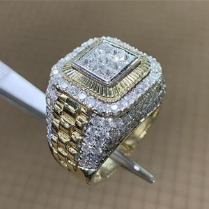 Merk Neues Zubehör Hiphop Hiphop Ringmens-europäische und amerikanische Stil-Tide Marke Hiphop-Ring-Diamant-Ring-heiße Schmucksachen