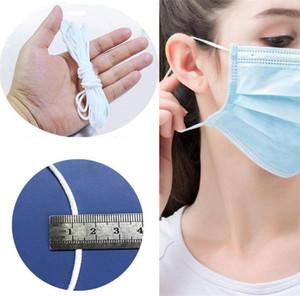 3 мм самодельная резинка эластичная маска ушная веревка одноразовая защита окружающей среды белая круглая свободная маска ушная линия 7051