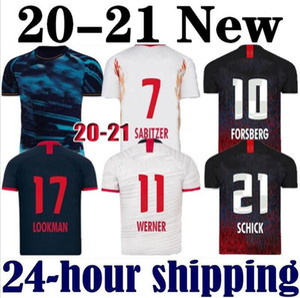 RB LEIPZIG Red Bull 19 20 Futbol Formalar ev uzakta üçüncü WERNER Camiseta Forsberg Maillot Halstenberg Sabitzer 2019 2020 Futbol Gömlek Setleri CUNHA Üniformalar