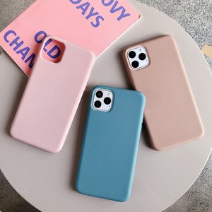 For iPhone 11 Pro Max xr xs max x 6s 7 8 Plus Cover Luxury Original Soft Liquid silicone Covers Accessories Bag Layers Shell Fitted Cases