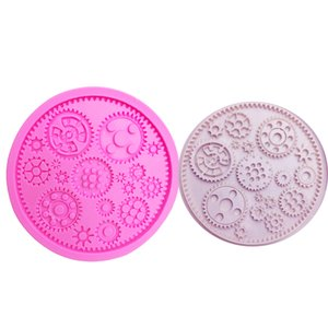 M0599 Steampunk Gears Confeitaria Silicone Fondant Cake Molds Cupcake Mould Chocolate Tools For Cakes Jelly Pudding Decor
