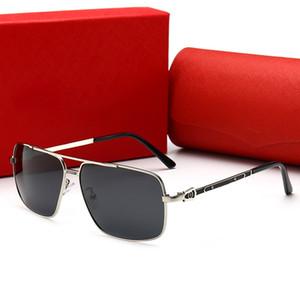 CARTIER 0125 Lunettes de soleil polygonales européennes et américaines de style tendance, lunettes de conduite, lunettes de soleil