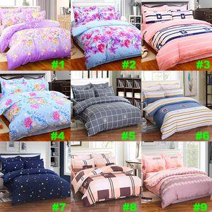Flor de cama fija 4pcs / set de lujo 3D Impreso funda nórdica fundas de almohada Inicio artículos de cama de Navidad regalo libre envío XD21693