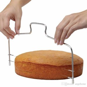 Stainless Steel Adjustable Wire Cake Slicer Leveler Slices Cake Cutter Tool Kitchen Gadgets Baking Accessories Tool