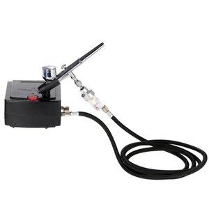 Двойного действия Аэрограф Spray Gun Воздушный компрессор Kit 0.3mm Air Brush пескоструйного для Art Картина татуировки торт Модель Nail Tool