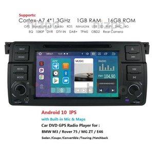 7 polegadas Android 10 1 Din Car áudio Rádio Leitor de DVD Para E46 M3 com sistema multimédia GPS Navigation 1080P BT DVR RDS WIFI
