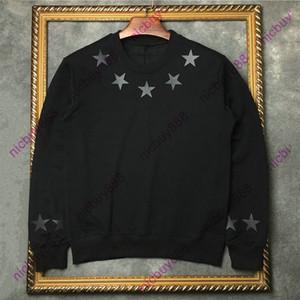2020 осень модельером роскошь отдавания Mens классический 3D кожи звезды печати толстовки пуловер с длинным рукавом Толстовка Повседневный хлопка фуфайку