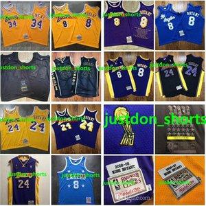 2020 새로운 정통 미첼 네스 로스 앤젤레스레이커스고베브라이언트608(24)NBA 스윙 맨 농구 유니폼 홈