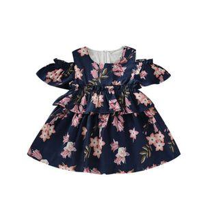 Pudcoco Toddler Infant Enfants Bébé Filles Robe D'été Robe Florale Tutu Robe Hors Épaule Princesse Robes D'été De Soirée