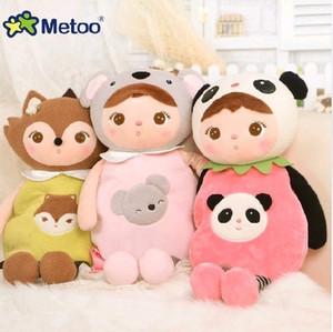 Escola dos desenhos animados sacos de ombro Crianças Boneca Plush Toy Satchel Crianças Bolsa para Kindergarten Angela Coelho menina Backpack Metoo boneca Y200111