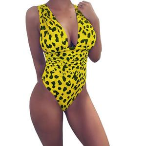 Maillot de bain une-pièce sexy à imprimé léopard 4 couleurs