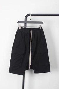 2020ss 오웬 Seak 남성 짧은 고딕 양식의 블랙 여름 100 % 코튼 화이트 회색 캐주얼 패션 여성 크로스 - 반바지