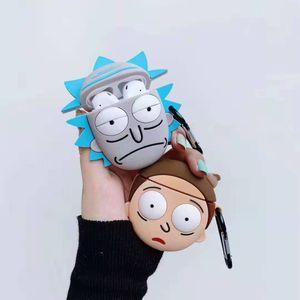 Для компании Apple AirPods Case 3D мультфильм Rick Morty силиконовый чехол для AirPods 2 Защитные наушники Обложка для воздуха Бобы