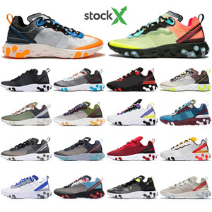With Socks React Element 55 87 Undercover Men Women running shoes Tour Yellow Bright Blue Orange Pee mens designer sneakers trainer shoes