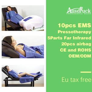 Portable lymphatic drainage machine 3in1 Pressotherapy + Far Infrared + EMS Slimming Detox salon equipment